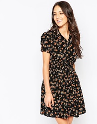 Jasmine Shirt Dress In Mini Owl Print Floral