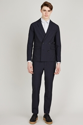 Patrik Ervell Double Breasted Blazer Dark Navy