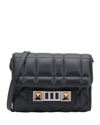 Proenza Schouler Ps11 Quilted Leather Wallet On Strap Black
