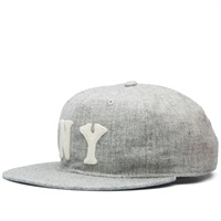 Ebbets Field Flannels New York Black Yankees 1936 Cap Grey Wool