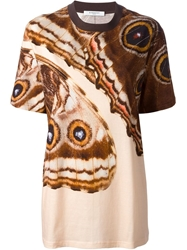 Givenchy Butterfly Print T Shirt Brown