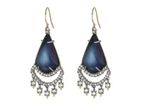 Alexis Bittar Crystal Lace Chandelier Earrings Blue Velvet Earring