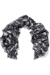 Iro Woman Frayed Modal And Silk Blend Scarf Charcoal