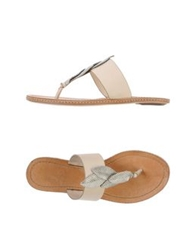 Aerin Thong Sandals Ivory