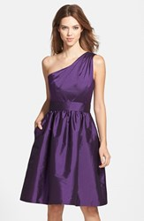 Women's Alfred Sung One Shoulder Satin Fit And Flare Dress Majestic