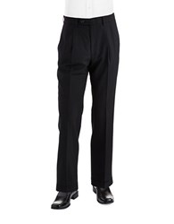 Lauren Ralph Lauren Mid Weight Pleated Wool Trouser Pants Black Plaid