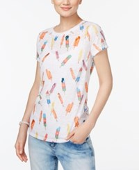 Inc International Concepts Petite Popsicle Print T Shirt Only At Macy's Bright White