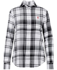 Polo Ralph Lauren Relaxed Fit Plaid Shirt White Space Black