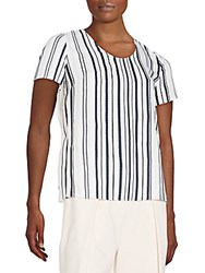 O'2nd Marrakesh Striped Top White Navy