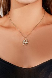 Urban Outfitters Unicorn Charm Necklace Gold
