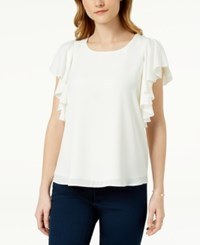 Maison Jules Ruffled Top Created For Macy's Cloud