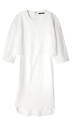 Tibi Blanca Lace Layered Dress