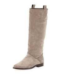 Etienne Aigner Rianne Suede Knee Boot Putty
