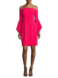 Nue By Shani Off The Shoulder Solid Dress Pink