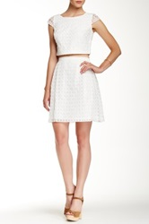 Jessica Simpson Mesh Blouse And Skirt Set Beige