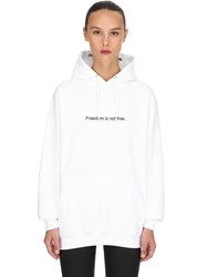 Famt Fuck Art Make Tees Freedom Is Not Free Hoodie White