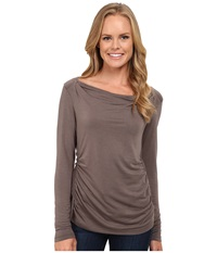 Royal Robbins Essential Tencel Cowl Neck Taupe Women's Long Sleeve Pullover