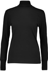 Petit Bateau Cotton Wool And Silk Blend Turtleneck Sweater Black