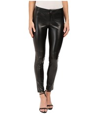 Dkny Faux Leather Skinny Ankle Ponte Pant Black Women's Dress Pants