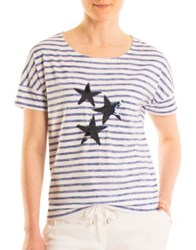Olsen Stars And Stripes Cotton Blend Tee Sailor Blue