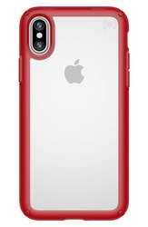 Speck Transparent Iphone X Case Red