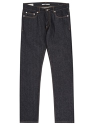Reiss Vedder Raw Slim Jeans Blue
