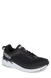 Hoka One One Clifton 5 Running Shoe Black White