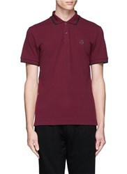 Mcq By Alexander Mcqueen Rubber Logo Patch Polo Shirt Red