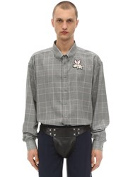 Gucci Oversize Wool Prince Of Wales Shirt Multicolor