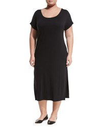 Montagne Plus Side Slit Maxi Tee Dress Black