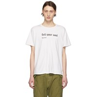R 13 R13 Off White 'Sell Your Soul' Boy T Shirt