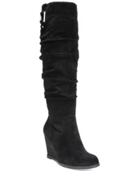 Dr. Scholl's Poe Tall Boots Women's Shoes Black Suede