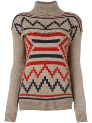 Woolrich Turtleneck Jumper Nude And Neutrals
