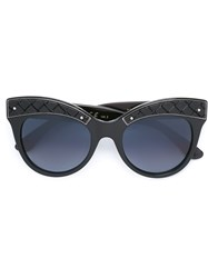 Bottega Veneta Oversized Round Frame Sunglasses Black