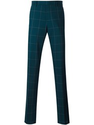 Paul Smith Checked Trousers Men Cotton Polyester Wool 34 Green