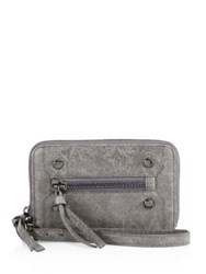 Botkier Abstract Printed Clutch Smoke Black