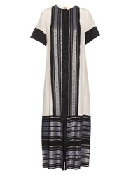 Zeus Dione Karpathos Button Through Silk Jacquard Dress