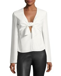 Alexander Wang Long Sleeve Tie Front Shirt Ivory