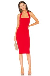Nookie Boulevard Midi Dress Red
