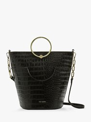 Ted Baker Ashher Leather Bucket Bag Black