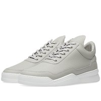 Filling Pieces Low Top Ghost Nappa Perforated Leather Sneaker Grey
