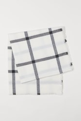 Handm H M Checked Scarf White