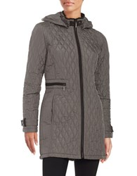 Weatherproof Quilted Zip Front Jacket Graphite