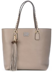 Dolce And Gabbana Tassel Tote Women Leather One Size Grey