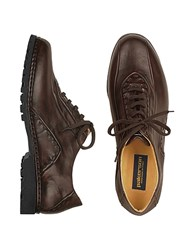Pakerson Dark Brown Italian Handmade Leather Lace Up Shoes