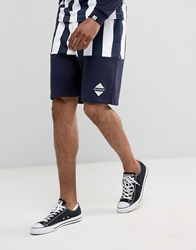 Billionaire Boys Club Shorts With Stripes Navy