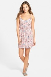 Ace Delivery Print Camisole Dress Pink