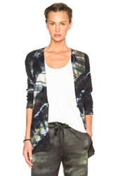 Raquel Allegra Shred Cardigan In Blue Ombre And Tie Dye