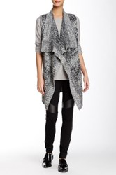 Romeo And Juliet Couture Draped Sleeveless Knit Cardigan Black