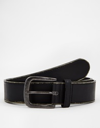 New Look Distressed Finished Belt Black
